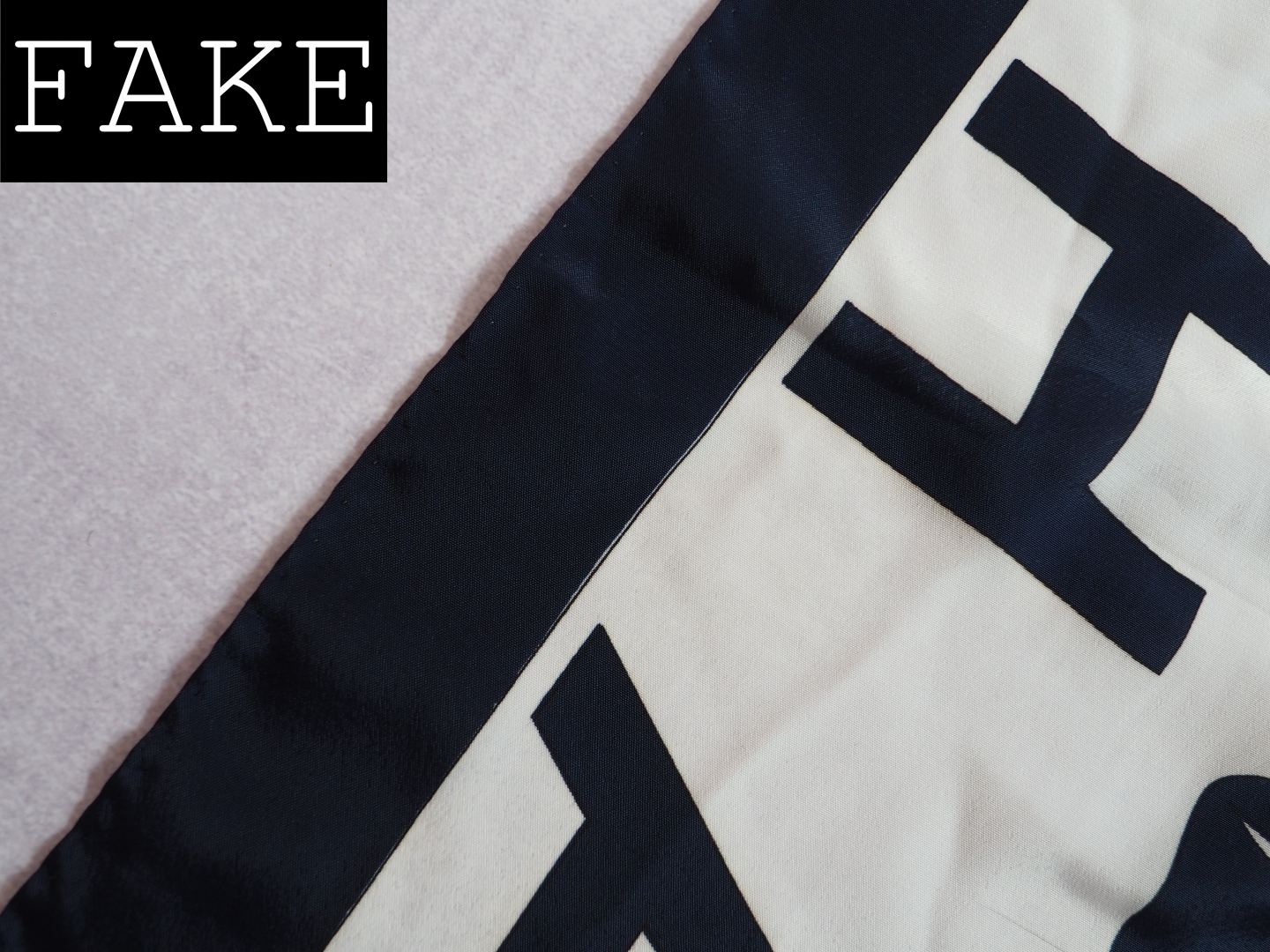 CHANEL SCARF REAL FAKE HOW TO SPOT A FAUX SILK SCARF BAD PRINT