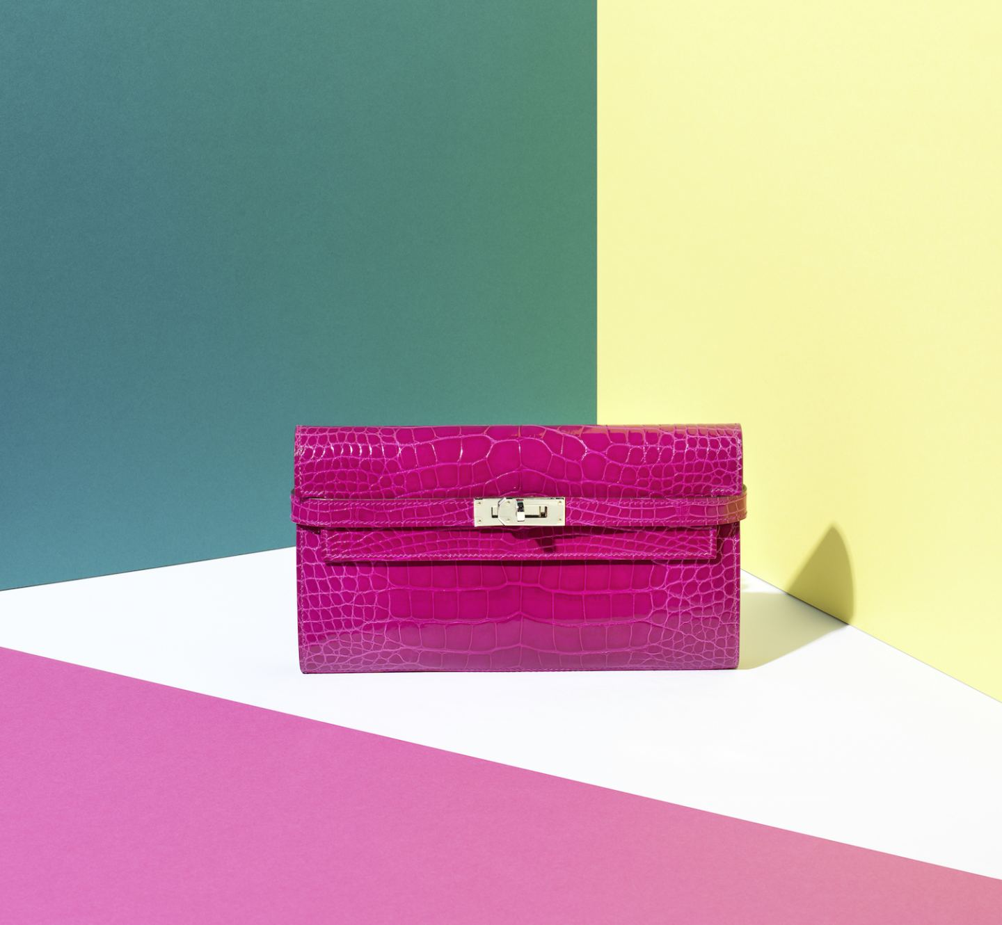 hermes Pink bag wallet clutch