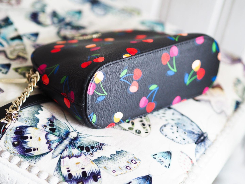 Kate spade cherry print dome bag handbag