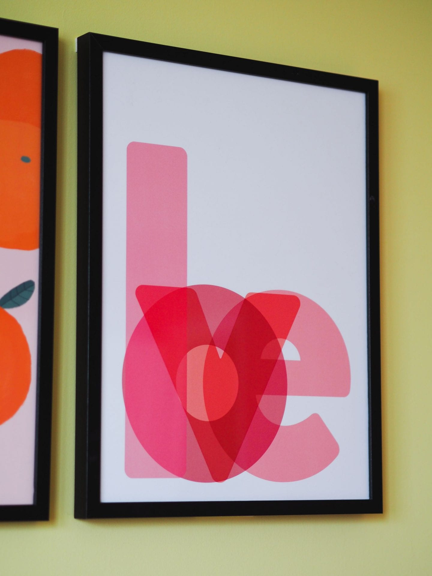 desenio haul review colourful haul love print