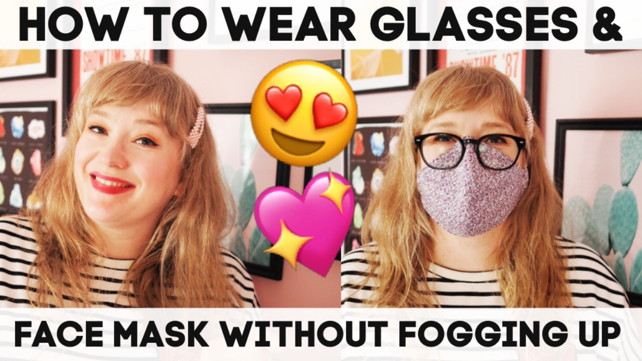 How To Wear A Face Mask & Glasses Without Fogging Up! labels for lunch