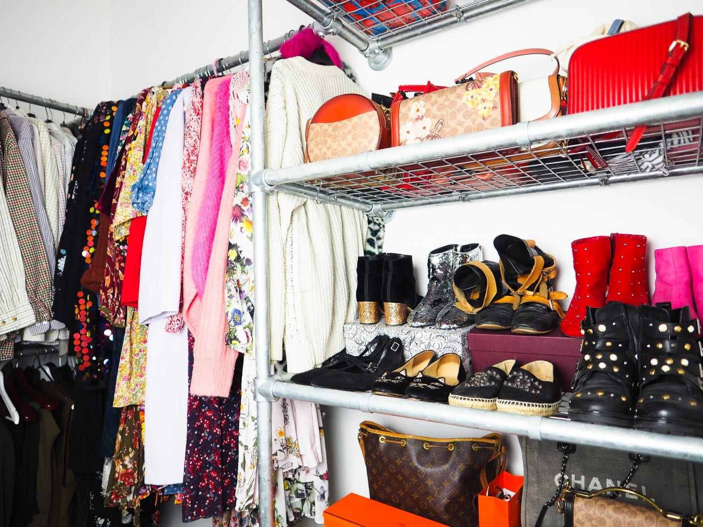 coach-bags-chanel-bags-walk-in-wardrobe Declutter Your Wardrobe