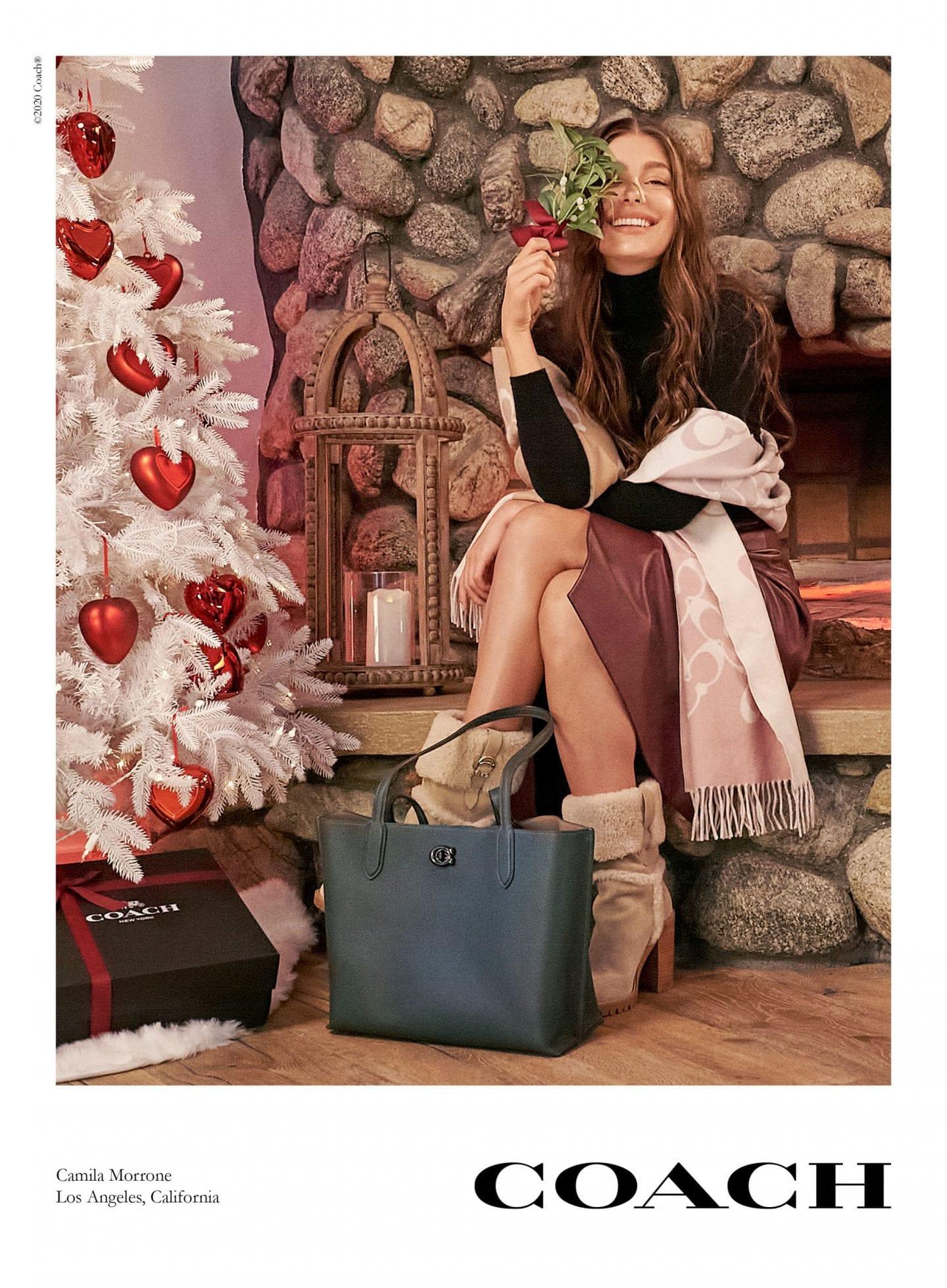 Camila Morrone coach new york christmas campaign 2020