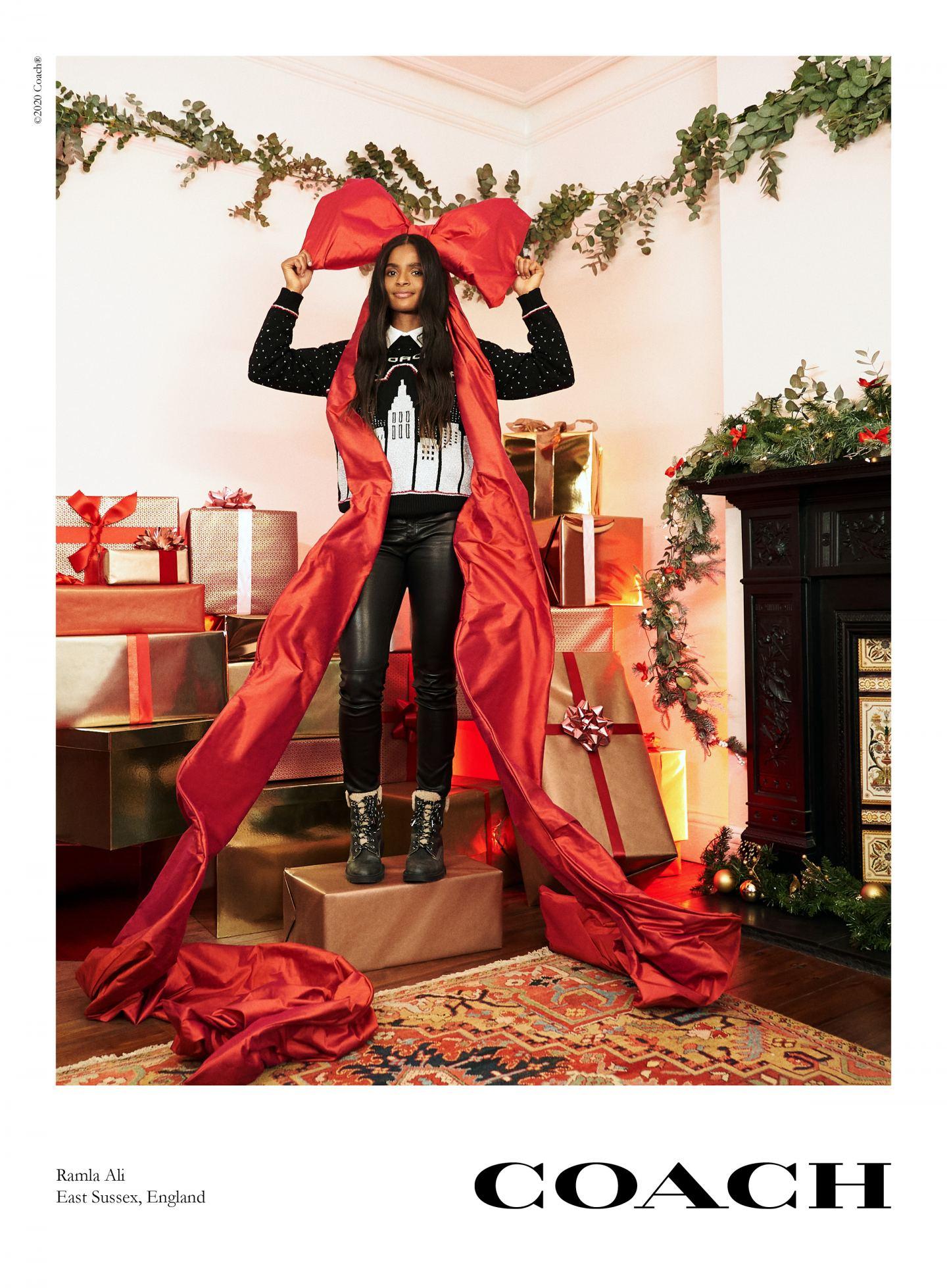 Ramla Ali_coach new york christmas campaign 2020
