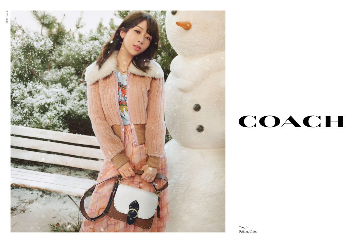 Yang Zi_coach new york christmas campaign 2020