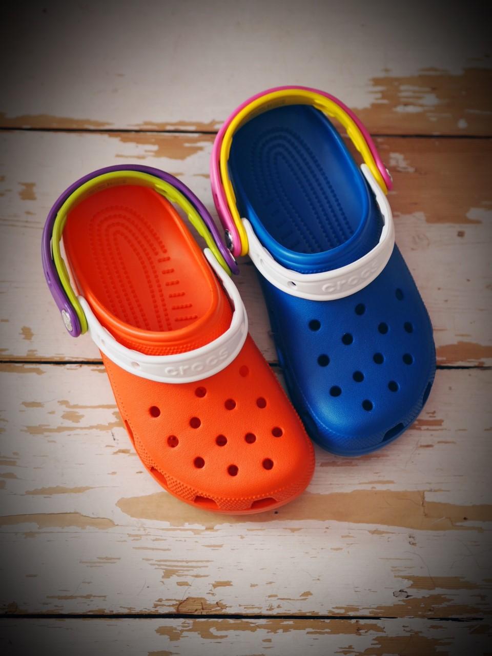 Rainbow Crocs