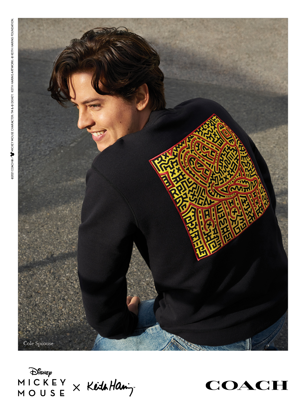coach Mickey mouse x keith haring Cole Sprouse