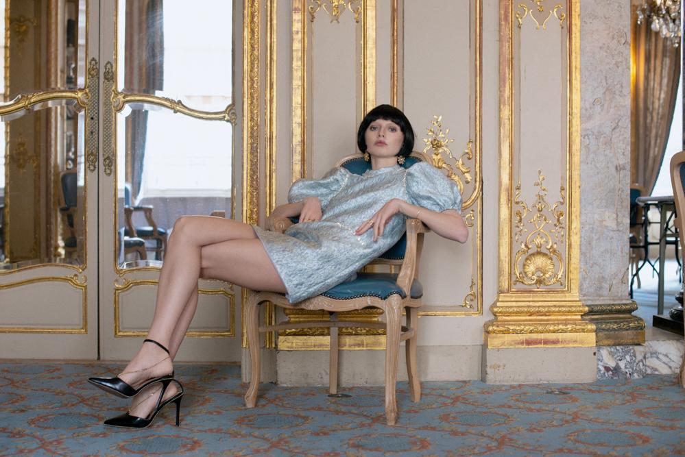 dream sister jane dress scallopped edge dress