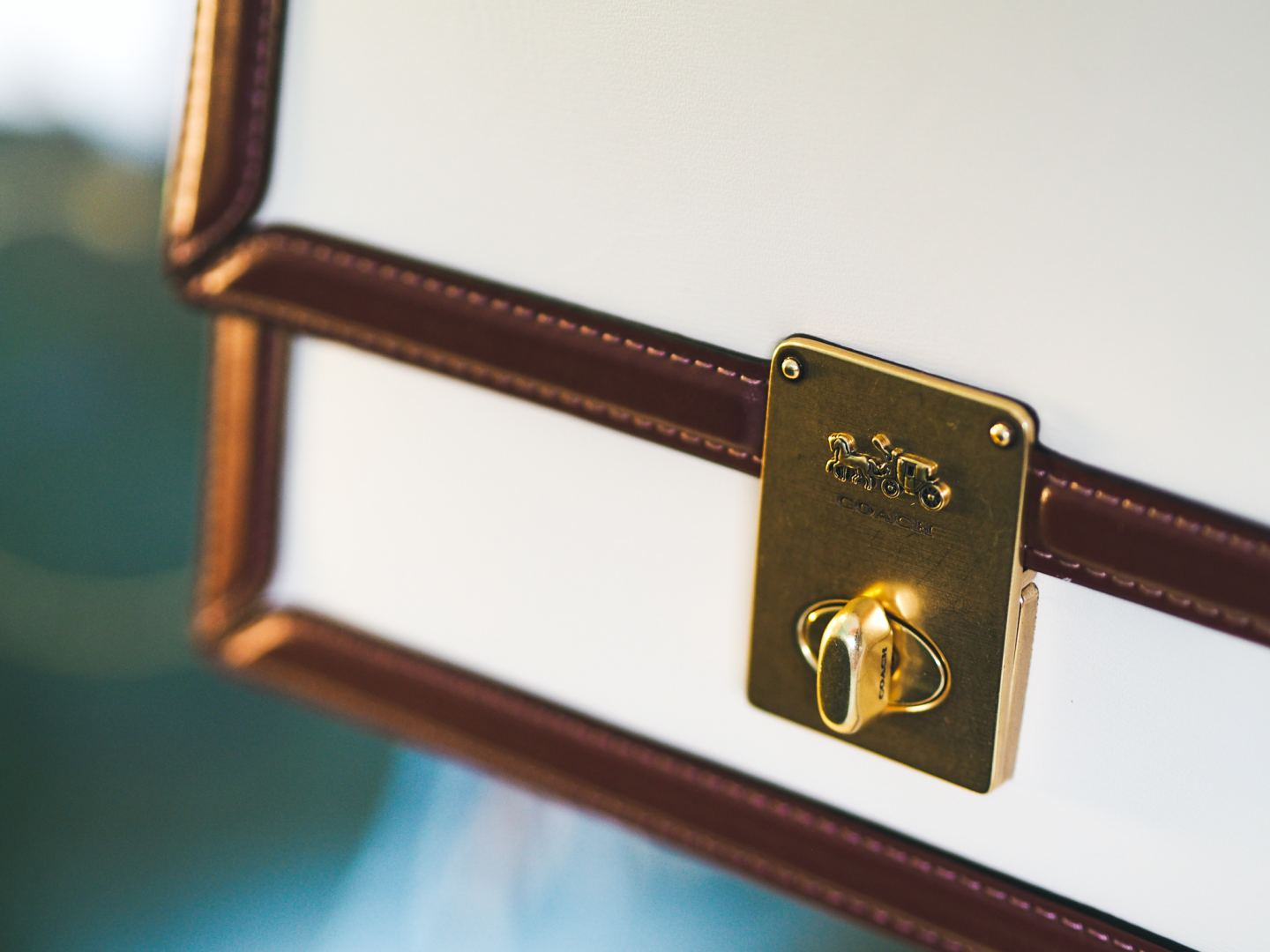 I Bought Myself The Coach Hutton Bag! Review! brass hardware