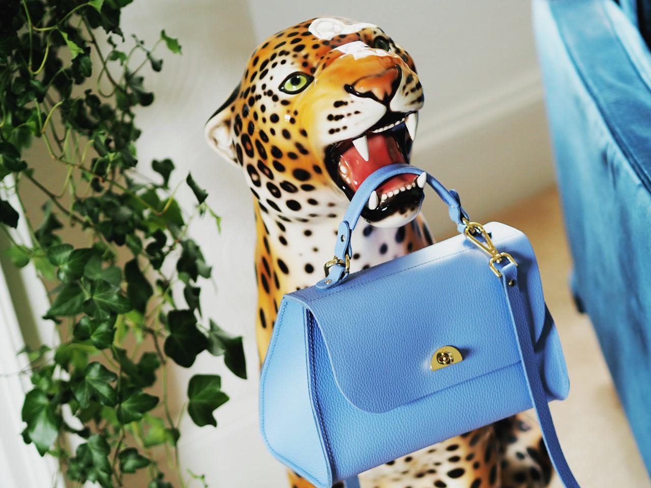 Cambridge Satchel Company Bag Review daisy poppy bellbell blue