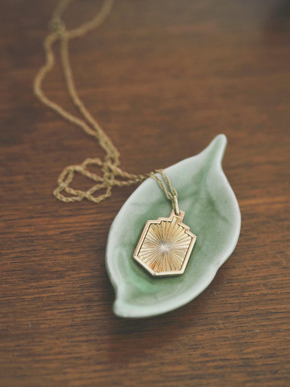 daisy london shield necklace