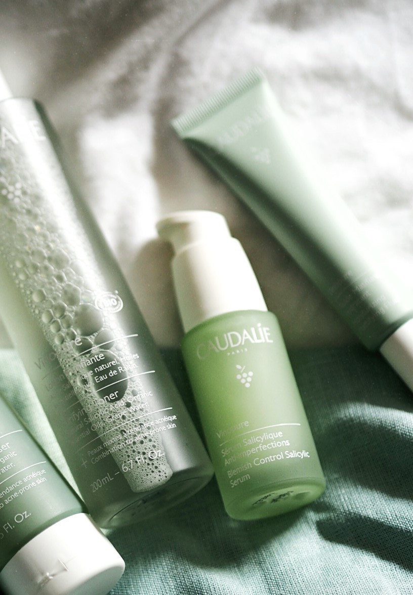Caudalie 'Vinopure' Collection Key Ingredientsreview acne natural skin care