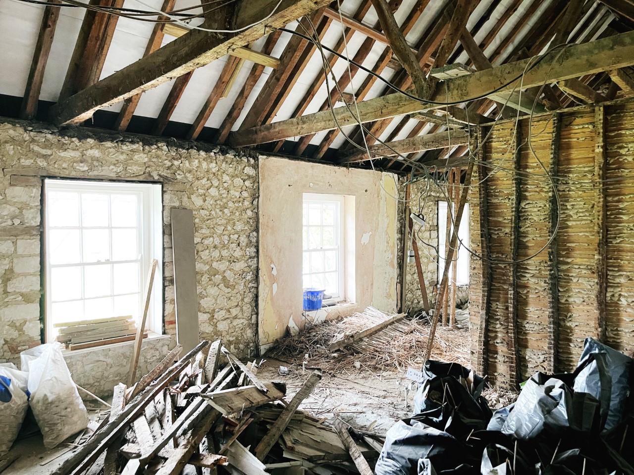 House Renovation Update norfolk cottage flint and chalk block
