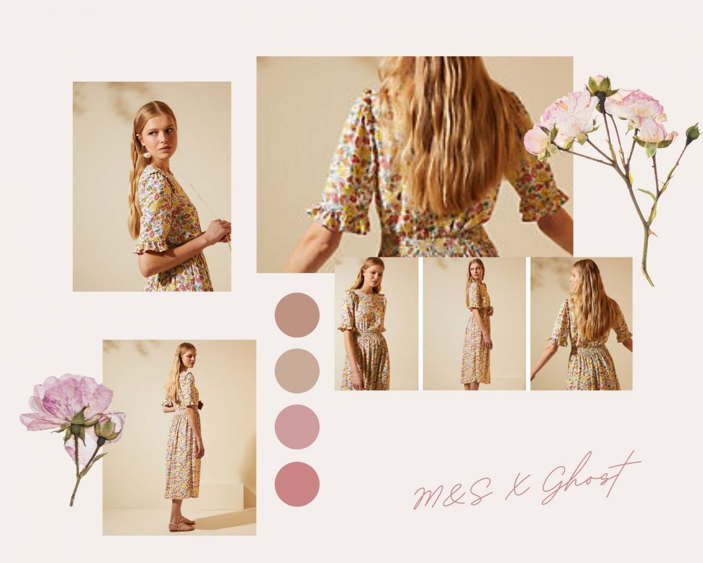 M&S Ghost dress floral midi
