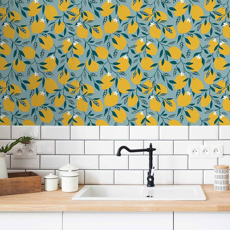 Modern,And,Design,Scandinavian,Kitchen,With,Plants,,Accessories,And,Straw
