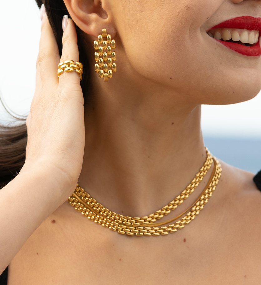 Monica Vinader x Doina Jewellery Collection necklace earrings bracelet