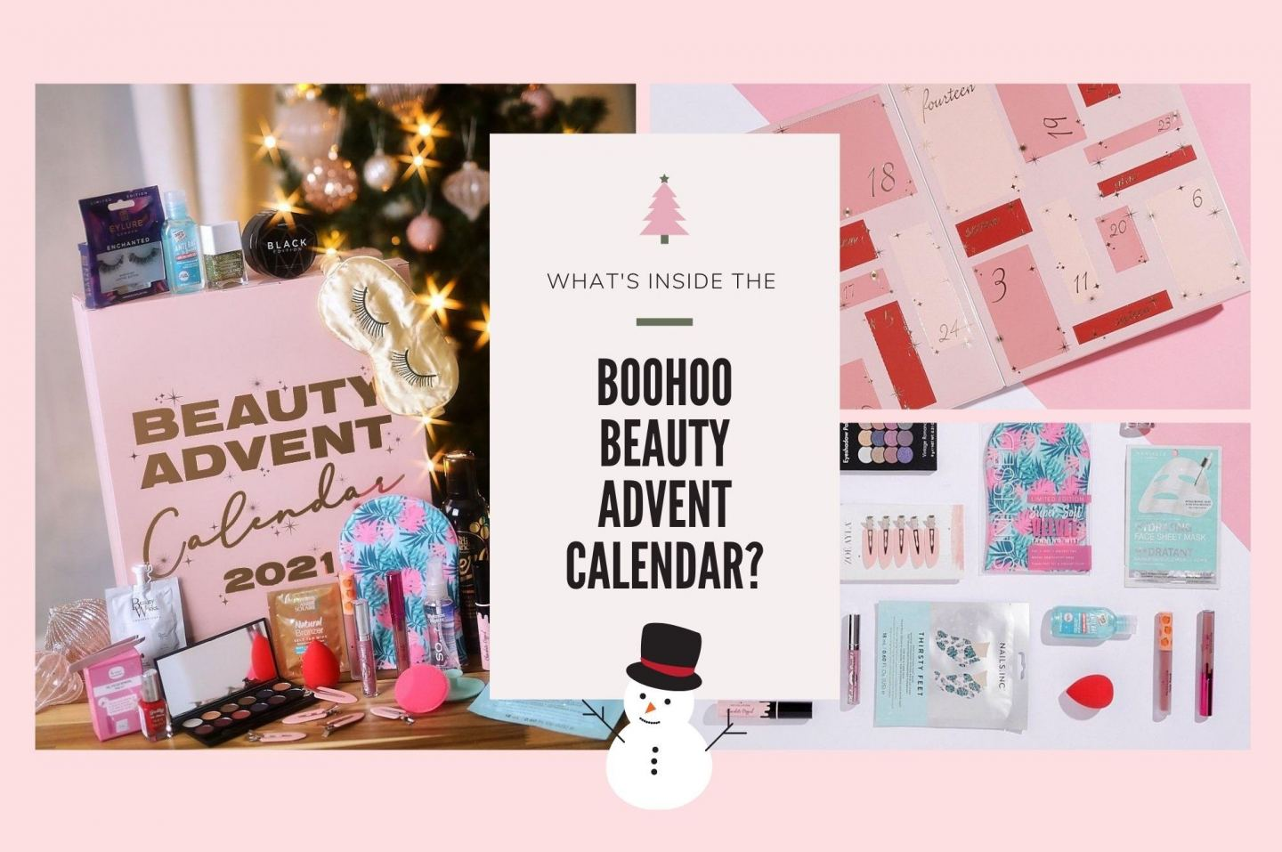 What's Inside The Boohoo Beauty Advent Calendar 2021!? review