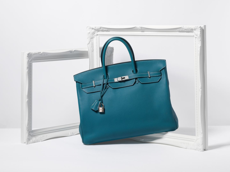 hermes teal birkin bag handbag auction bonhams