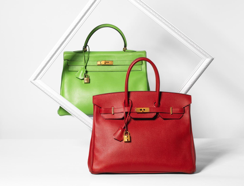 lime green and red hermes birkin bag