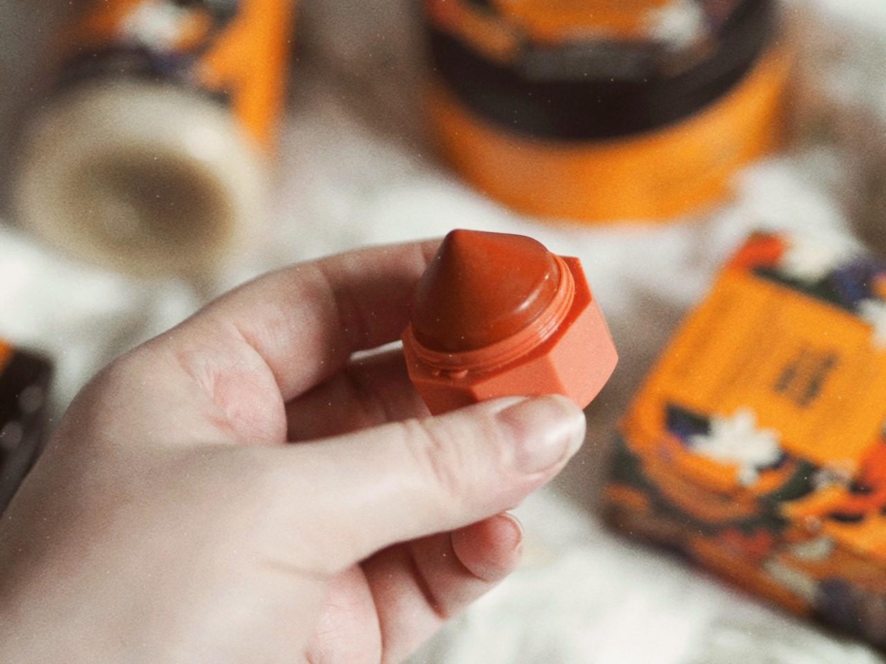 the body shop vanilla pumpkin collection spiced pumpkin lip balm