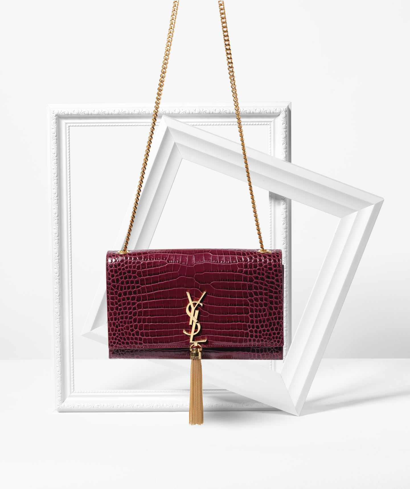 ysl chain clutch bag tassel